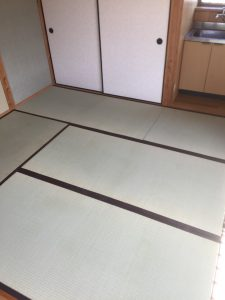 アパートの畳を納品いたしました